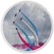 The Red Arrows Round Beach Towel by Stephen Smith