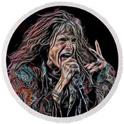 Steven Tyler Collection Round Beach Towel by Marvin Blaine