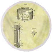 1905 Drum Patent Round Beach Towel by Dan Sproul