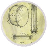 1908 Drum Patent Round Beach Towel by Dan Sproul