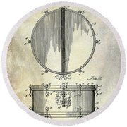 1912 Ludwig Drum Patent  Round Beach Towel by Jon Neidert