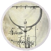 1913 Ludwig Drum Patent  Round Beach Towel by Jon Neidert
