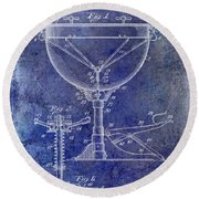 1941 Ludwig Drum Patent Blue Round Beach Towel by Jon Neidert
