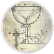 1941 Ludwig Drum Patent  Round Beach Towel by Jon Neidert