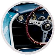 Round Beach Towel featuring the photograph 1961 Austin Healey 3000 by M G Whittingham