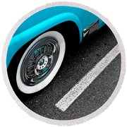 Round Beach Towel featuring the photograph 1958 Ford Crown Victoria by M G Whittingham