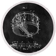 1963 Snare Drum Patent Round Beach Towel by Dan Sproul