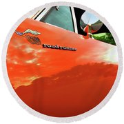 1969 Plymouth Road Runner 440 Roadrunner Round Beach Towel by Gordon Dean II