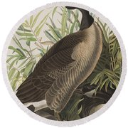 Canada Goose Round Beach Towel by John James Audubon