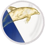 Dolphin Collection Round Beach Towel by Marvin Blaine