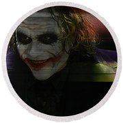 Heath Ledger Round Beach Towel by Marvin Blaine
