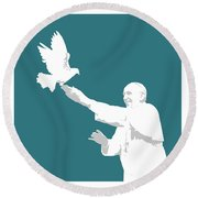 Pope Francis Round Beach Towel by Greg Joens