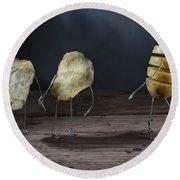 Simple Things - Potatoes Round Beach Towel by Nailia Schwarz