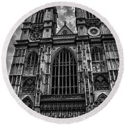 Westminster Abbey Round Beach Towel by Martin Newman