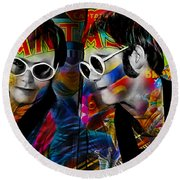 Elton John Collection Round Beach Towel by Marvin Blaine