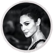 Gal Gadot Print Round Beach Towel by Best Actors