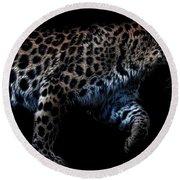 Amur Leopard Round Beach Towel by Martin Newman