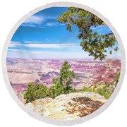 Round Beach Towel featuring the photograph Grand Canyon, Arizona by A Gurmankin