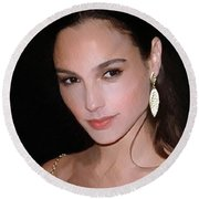 Gal Gadot Round Beach Towel by Best Actors
