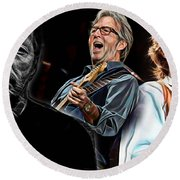 Eric Clapton Collection Round Beach Towel by Marvin Blaine