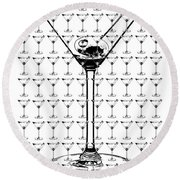 So Many Martinis So Little Time Round Beach Towel by Jon Neidert