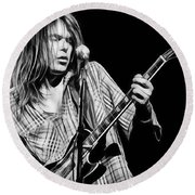 Neil Young Collection Round Beach Towel by Marvin Blaine