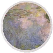 The Waterlily Pond Round Beach Towel by Claude Monet
