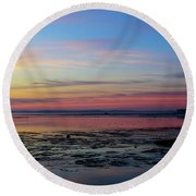 Round Beach Towel featuring the photograph A Change Of Season by Thierry Bouriat