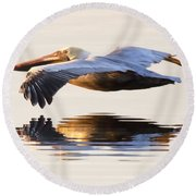 A Closer Look Round Beach Towel by Janet Fikar