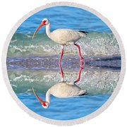 A Reflective Walk Round Beach Towel by Betsy Knapp