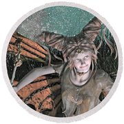 She Belongs -- With  Round Beach Towel by Betsy Knapp