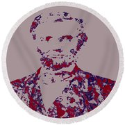Abraham Lincoln 4c Round Beach Towel by Brian Reaves