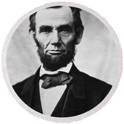 Abraham Lincoln Round Beach Towel by War Is Hell Store