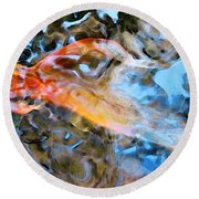 Abstract Fish Art - Fairy Tail Round Beach Towel by Sharon Cummings