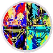 Abstract Martini's Round Beach Towel by Jon Neidert