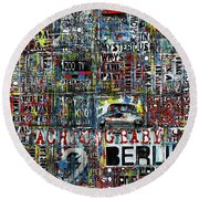 Achtung Baby Round Beach Towel by Frank Van Meurs