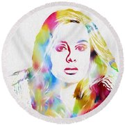 Adele Round Beach Towel by Dan Sproul