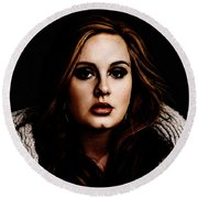 Adele Round Beach Towel by The DigArtisT