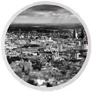 Aerial View Of London 6 Round Beach Towel by Mark Rogan