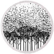 Aki Monochrome Round Beach Towel by Cynthia Decker