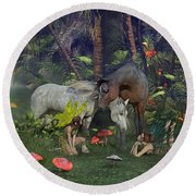 All Dreams Are Possible Round Beach Towel by Betsy Knapp