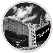 All In Cleveland Round Beach Towel by Kenneth Krolikowski
