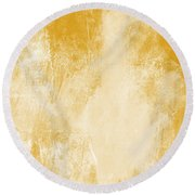 Amber Waves Round Beach Towel by Linda Woods