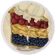 American Pie Round Beach Towel by Meg Shearer