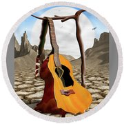 An Acoustic Nightmare Round Beach Towel by Mike McGlothlen