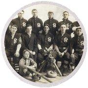 An Early Sf Baseball Team Round Beach Towel by American School