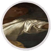Ancient Human Instinct Round Beach Towel by David Bridburg
