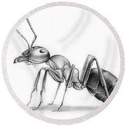 Ant Round Beach Towel by Greg Joens