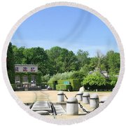 Round Beach Towel featuring the photograph Armistice Clearing In Compiegne by Travel Pics