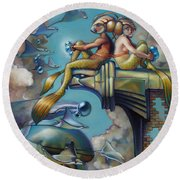 Array Of Hope And Change Round Beach Towel by Patrick Anthony Pierson